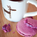 Macaroon with tea Royalty Free Stock Photography