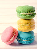 Macaroon tower Stock Images