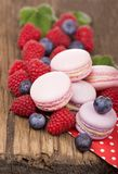 Macaroon on a wooden background Stock Image