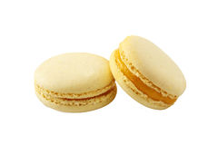 Macaroon yellow Royalty Free Stock Images
