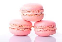 Macaroones rosados Fotografía de archivo libre de regalías