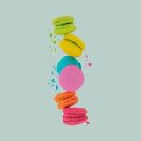 macaroons Γλυκά και ζωηρόχρωμα macaroons στοκ φωτογραφία