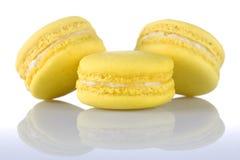 macaroons κίτρινα στοκ εικόνα