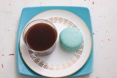 macaroons καφέ Στοκ Εικόνες