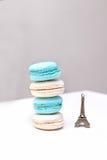 Macaroons белизна конфеты и аквамарин цвета дома Стоковое фото RF