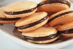 Macaroons с шоколадом Стоковое Фото