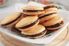 Macaroons с шоколадом Стоковые Изображения RF