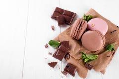 Macaroons с шоколадом Стоковое фото RF