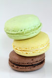 Macaroons. Delicious multicolored macaroons piled on top of each other Royalty Free Stock Photo