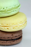 Macaroons. Macro shot of delicious multicolored macaroons Royalty Free Stock Photography