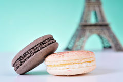 Macaroons. Colourful Macaroons, the delicious dessert royalty free stock photography
