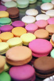 Macaroons. Close-up of macaroons in a bakery Royalty Free Stock Photo