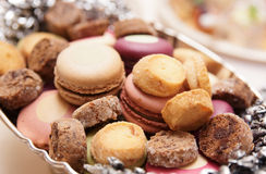 Macaroons on banquet table. Catering even Royalty Free Stock Photo