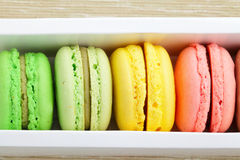 Macaroons in box Royalty Free Stock Photo