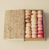 Macaroons in a box Stock Image