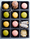 Macaroons in a box Royalty Free Stock Photography