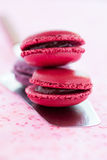 Macaroons on cake server Royalty Free Stock Photography