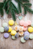 Macaroons and christmas Royalty Free Stock Image