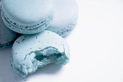 Macaroons. Close up macaroons on white background,pastel style Royalty Free Stock Image