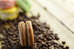 Macaroons with coffee taste Royalty Free Stock Photography