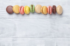 Macaroons coloridos fotografia de stock royalty free