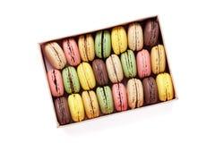 Macaroons coloridos Macarons doces Foto de Stock
