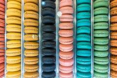 Macaroons coloridos Testes padrões e cores Fotografia de Stock