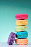 Macaroons. Colourful Macaroons, the delicious dessert royalty free stock photos