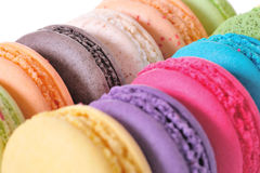 Macaroons. Colourful Macaroons, the delicious dessert stock images