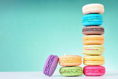 Macaroons. Colourful Macaroons, the delicious dessert royalty free stock images