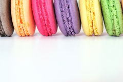 Macaroons. Colourful Macaroons, the delicious dessert royalty free stock photo