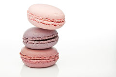 Macaroons cor-de-rosa Foto de Stock Royalty Free