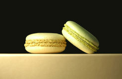 Macaroons on dark  background Royalty Free Stock Photos