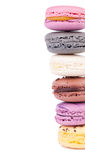 Macaroons deliciosos frescos coloridos Imagens de Stock