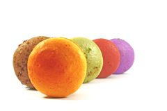 Macaroons on display Royalty Free Stock Photography
