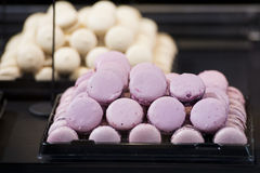 Macaroons on display stand Stock Image