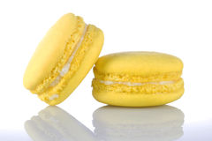 Macaroons dos amarelos Foto de Stock Royalty Free