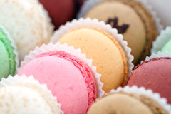 Macaroons franceses Imagens de Stock Royalty Free