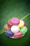 Macaroons franceses Foto de Stock