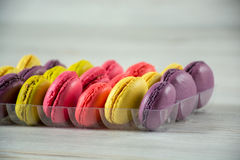 Macaroons franceses coloridos Foto de Stock Royalty Free