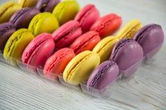 Macaroons franceses coloridos Foto de Stock