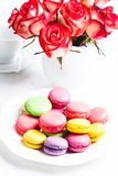 Macaroons in gift box Royalty Free Stock Images