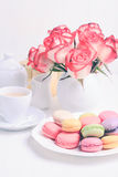 Macaroons in gift box Royalty Free Stock Photography