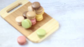 Macaroons stock footage