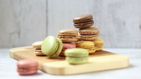 Macaroons. Homemade macaroons cookies in different colors