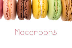 Macaroons isolated Royalty Free Stock Image