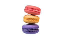 Macaroons isolated on white background with clipping path Stock Image