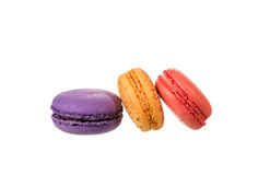 Macaroons isolated on white background with clipping path Stock Images