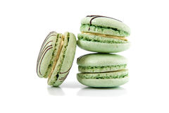 Macaroons isolated on a white background Royalty Free Stock Photos
