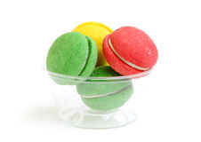 Macaroons kept in a bowl Stock Photography